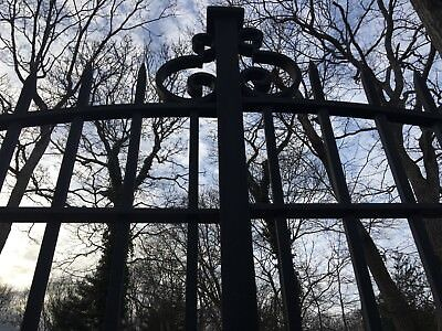Antique Vintage Iron Estate Garden Driveway Gates Possibly Godfather Part Ii