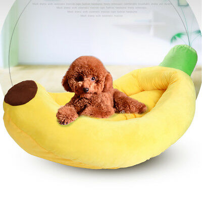 Pet Dog Cat Nest Puppy Bed Soft Cotton House Indoor Washable Mat Banana Cartoon