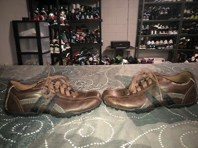 ae7460b73736 Skechers Relaxed Step Talus Burk Mens Leather Casual Shoes Oxfords Size 9  Brown