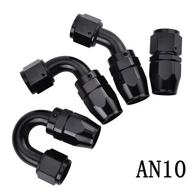 AN10 -10AN Swivel Straight Elbow 45 180 Degree Oil Fuel Hose End Fitting Adapter