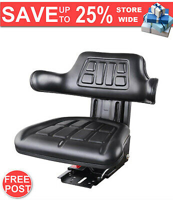 QUALITY NEW DELUXE PU Leather Tractor Seat Black FAST & FREE POSTAGE WARRANTY