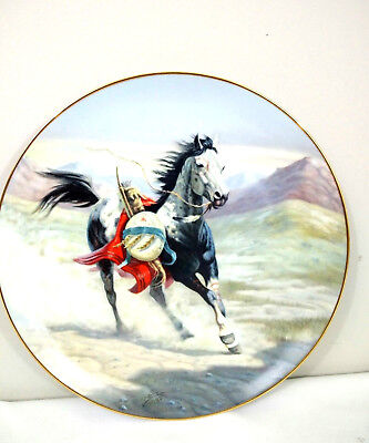 "Perillo Plate ""Sioux War Pony"" 1st in War Ponies Series Vague Shadows USA  #3052"