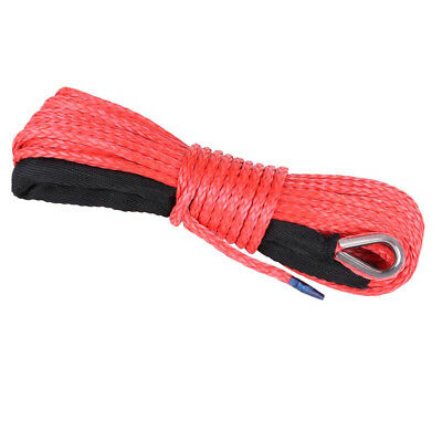 5mm x 15M Dyneema SK75 Winch Rope Red Synthetic strap Boat ATV 4WD Recovery