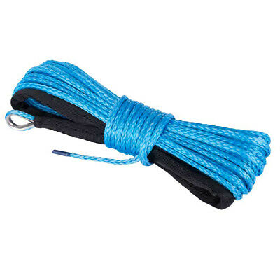 5mm x 15M Dyneema SK75 Winch Rope Blue Synthetic strap Boat ATV 4WD Recovery