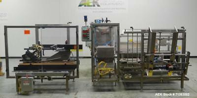 Used- Combi Model 2HL Automatic Carton Case Erector Packer and Sealer. Operates