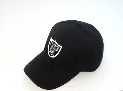 6a69d9e16ff OAKLAND RAIDERS HAT Cap Black Classic Style One Size New!! -  11.69 ...