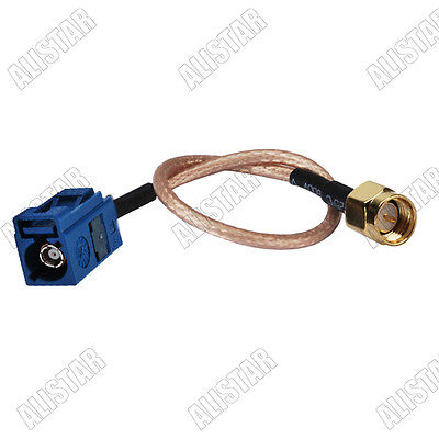 "10x Fakra Jack ""C"" to SMA male plug pigtail Cable RG316 for GPS Telematics 15CM"