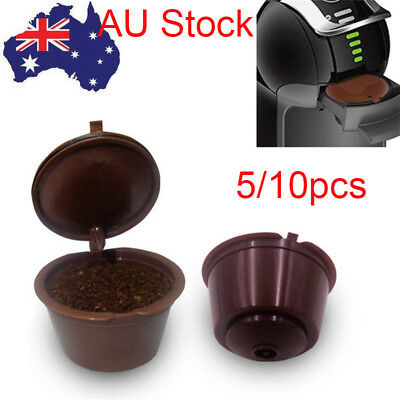 5/10PCS Refillable Reusable Coffee Capsules Pod Cup for Nescafe Dolce Gusto