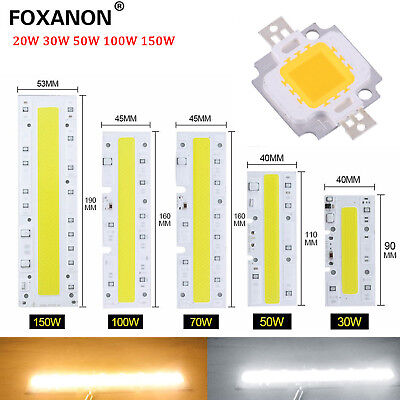 High Power Epistar 30W 50W 100W 150W Flood Light COB LED Bulb Bead Chip AC220V
