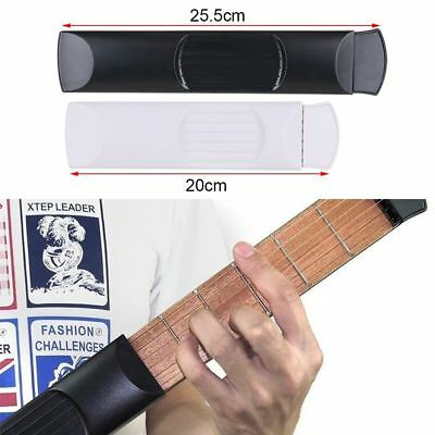 Pro Portable Pocket 6 String 4/6 Fret Guitar Practice Gadget Chord Trainer Tool