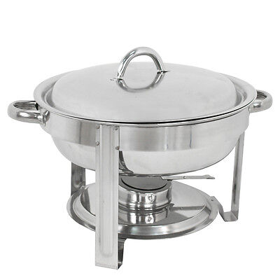 Deluxe 5 Qt Round Accent Stainless Steel Chafer Chafing Dish Set