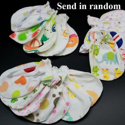 3 Pairs Anti Scratching for 0-6 Month Babies Mittens Full Finger Glove Random
