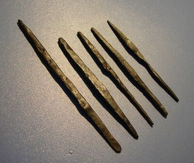 ANCIENT arrowheads Viking, Khazar Khanate 6 - 9 century IRON.ORIGINAL.