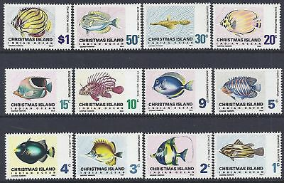 1968 Christmas Island Stamps - Definitives-  Indian Ocean Fish- MNH set of 12 #2