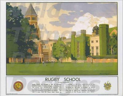 Vintage Travel/Railway,Wall Art: Posters:RUGBY SCHOOL A129