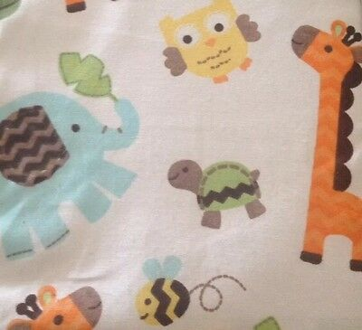 Brand New Circo Safari Woven Fitted Crib Sheet Jungle Animals Baby Toddler