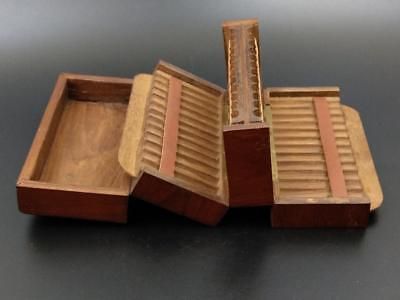 Antique Mahogany Cigarette box Late 19th century