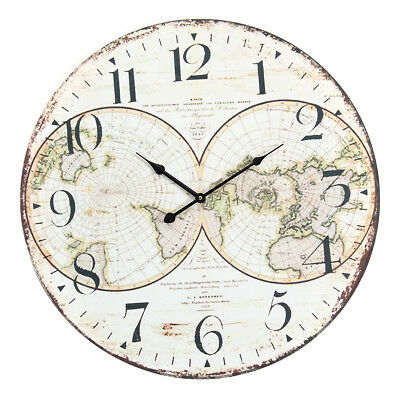 58cm Wall Clock Extra Large Compressed Wooden Retro Wall Clock Lacquer Surface F