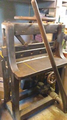 "1909 C&P Guillotine 25""wide  x  38""long bed Paper Cutter (letterpress printing)"
