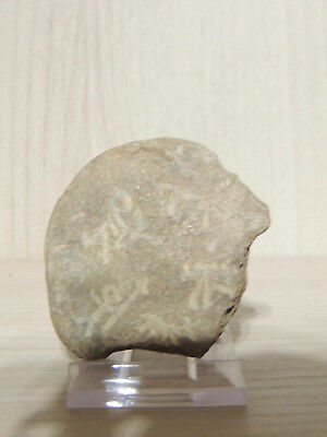 Antique Little Stone With Drawings