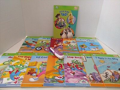 LeapFrog Tag Lot of 13 Paperback Books and Pen Reader