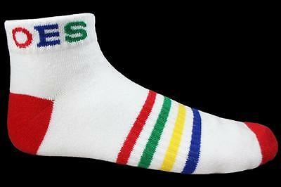 Order of the Eastern Star OES Multi-Color Ankle Socks-New!