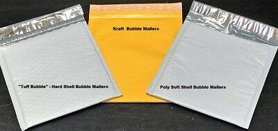 Choose Material & Quantity 1-3000   Tuff Bubble, Kraft or Poly Bubble Mailers  