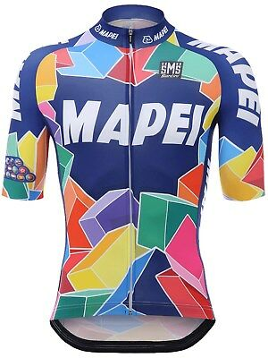 Santini Blue 2018 Mapei Short Sleeved Cycling Jersey