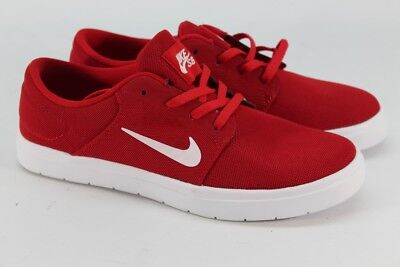new product b42a4 1c333 Nike SB Portmore Ultralight Men s University Red White Gym Red Skate Shoes  6M