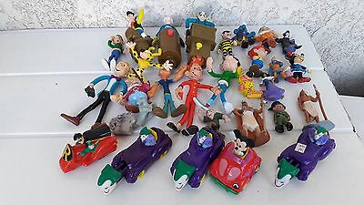 Lot De 30 Figurines Bd Gaston Spirou Lucky Luke Marsupilami  Batman