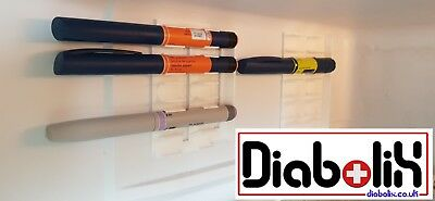 Insulin pen holder for refrigerator. Diabetes type 1 and type 2. CGM.