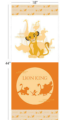 "Disney The Lion King Camelot 100% cotton fabric by the Panel 18"" X 43"""