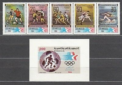 Syria - Mail Yvert 711/5+H.33 Mnh Olympics of the Angeles