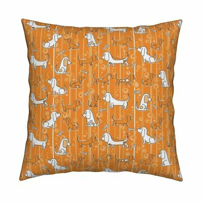 Basset Hound Dog Puppy Hound Throw Pillow Cover w Optional Insert by Roostery