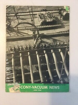 SOCONY -  VACUUM NEWS Magazine Of Mobiloil MOBIL OIL GAS NYC JUNE 1946
