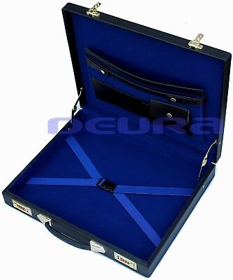 Freemason Masonic Regalia Apron Hard Case Blue Inside New Briefcase