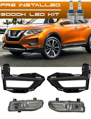 For 2017 2018 NISSAN ROGUE Fog Light Driving Lamp Kit w/ switch wiring + LED KIT