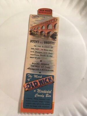 Vintage  Advertizing Bookmark  Old Nick Candy Bar