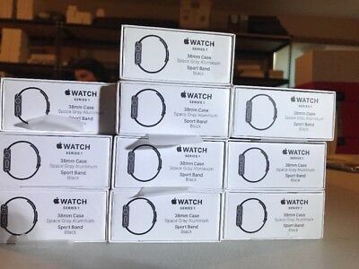 10 Empty Apple Watch Boxes 38MM 1 Series 1 No Watch or Accessories Gray Black