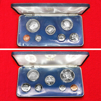 1973 Jamaica (7 Coin) Proof Set Includes .925 Silver 5 Dollar Coin Franklin Mint
