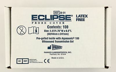 Parker 38-01 Eclipse Endocavity Probe Covers Box of 100 EXP 05/2019