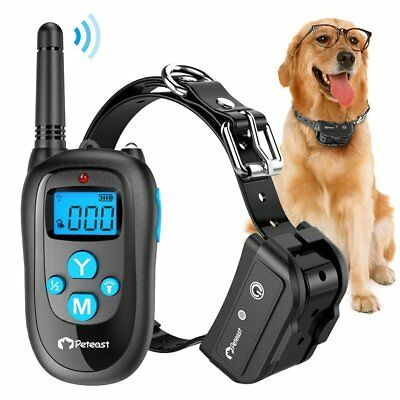 Peteast Remote Rechargeable Waterproof Dog Training Collar Beep Trainer 3 Models