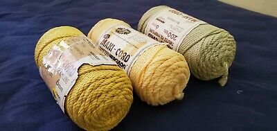 Maxi-Cord Twisted Herculon Cord  6mm 200 Yds (182 Meters), Beige Color