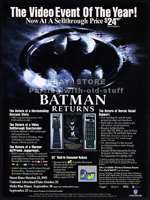 BATMAN RETURNS__Original 1992 Trade print AD / promo__MICHAEL KEATON__PFEIFFER