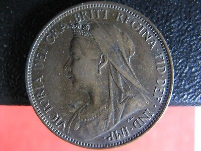 Halfpenny 1898 Great Britain KM#789 coin UK Grande-Bretagne Victoria 1/2d 1/2p
