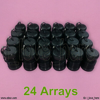 24 Black Round Arrays Replacement for Ionic Detox Foot Bath Spa Cleanse Machine
