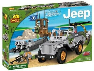 Konstruktion Spielzeug Cobi 24251 Small Army Jeep Willys MB Coast Patrol