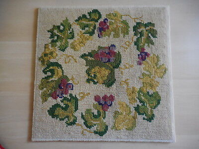 Vintage Tapestry Abstract Autumn Leaves Completed  On Backing &  Unframed