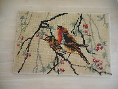 Vintage Tapestry Collection De Paris  Birds Completed & Backing &  Unframed