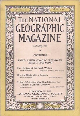 national geographic-AUG 1923-RUINS OF CUICUILCO MAY REVOLUTIONIZE OUR HISTORY ..